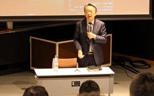 議論のテーマは社会問題や生き方にも及んだ(2017年12月8日、東京工業大学大岡山キャンパス)=東工大提供