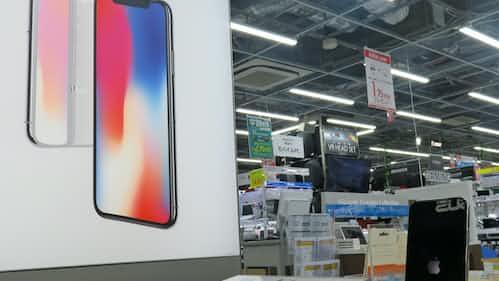 iPhoneX失速鮮明、販売台数シェアで1割切る