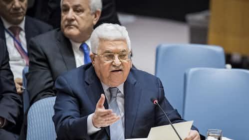 アッバス議長、米政権の中東政策非難 安保理会合