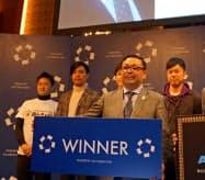ICCのカタパルト・グランプリで優勝したコネクテックジャパンの平田勝則社長