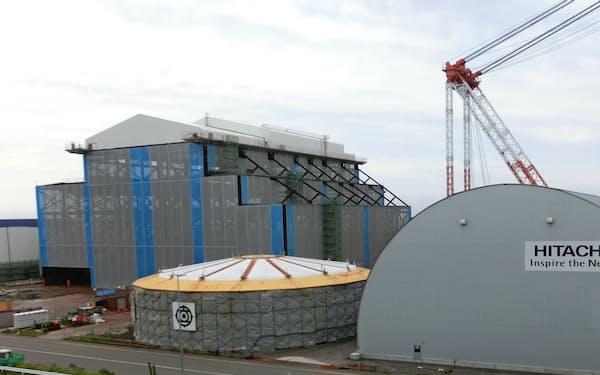 建設工事が中断しているJパワーの大間原子力発電所(青森県大間町)