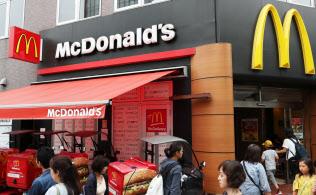 日本マクドナルドホールディングスは2017年12月期に実質無借金になった(マクドナルドの店舗)