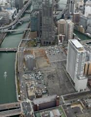 再生医療拠点の開設が予定される中之島再開発地区(大阪市北区)