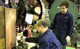 三栄金属製作所は廃業企業の事業を引き継いだ(大阪府東大阪市)