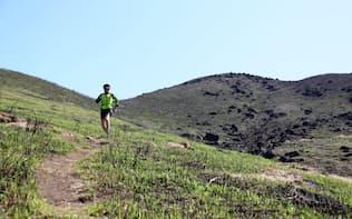 阿蘇の外輪山を走る