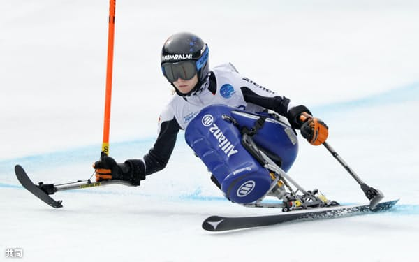 平昌で金メダル獲得を目指すアルペン座位のアナ・シャフェルフーバー=共同