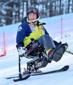 パラリンピックアルペンスキー男子座位の森井大輝