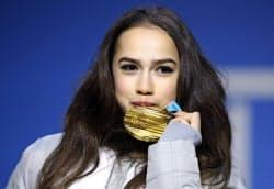 平昌五輪フィギュアスケート女子金メダリストのアリーナ・ザギトワ選手=ロイター