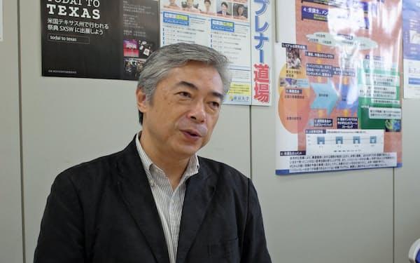 東京大学の産学協創推進本部イノベーション推進部長を務める各務茂夫教授