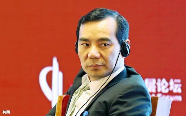 安邦保険集団の創業トップで2月に起訴された呉小暉氏(17年3月、北京)=共同