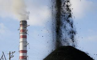 ウクライナの火力発電所=ロイター