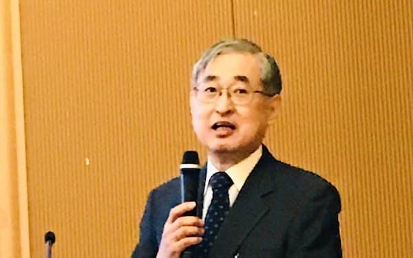 池尾和人・慶応大学教授の最終講義の様子(2月24日、慶応大)