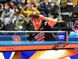 ジャパン・トップ12大会で初優勝を果たした早田