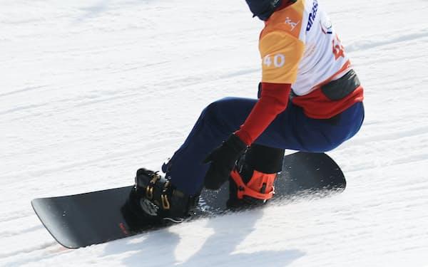 成田はスノーボードクロスで銅メダルを獲得した=横沢太郎撮影