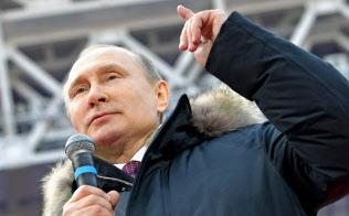 ロシア経済は停滞している(3日、モスクワ)=AP