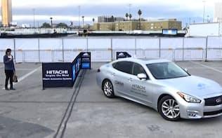 スマホで車を自動駐車できるシステム。クラリオンが日立子会社と開発した(米ラスベガス)