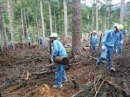 寄付金は間伐などの費用に充てる