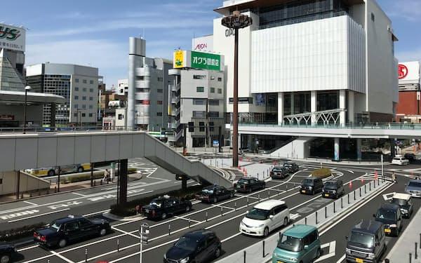 群馬県高崎市では再開発が進むJR高崎駅前で地価の上昇が続いている