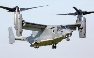 米空軍のCV22オスプレイ(AP=共同)