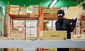 アマゾンの物流倉庫