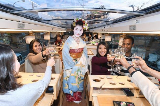 京都の風情を感じながら舞妓さんに乾杯