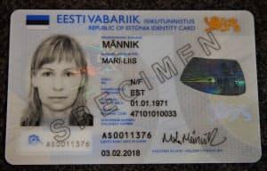 エストニアのIDカード(写真は見本)