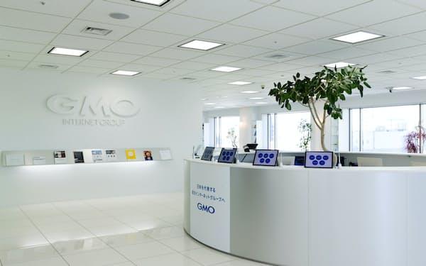 GMOインターネットは上場子会社8社を抱える(東京・渋谷の本社)