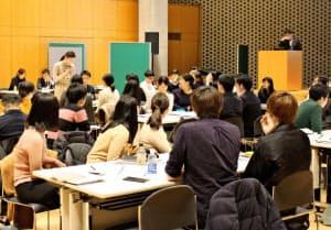 立命館アジア太平洋大学で開かれた合同説明会(大分県別府市)
