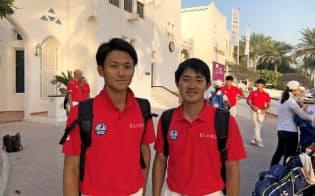 大沢選手(左)と金谷選手を誇りに思う