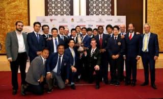 アジア太平洋選抜チームの選手とスタッフが一丸となって欧州選抜に立ち向かった