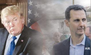 トランプ米大統領(左)とシリアのアサド大統領(コラージュ)