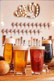 球場近くの球団所有のバーではオリジナルのクラフトビールを提供している