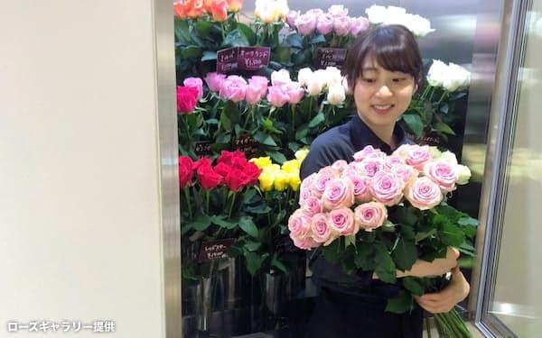 契約生産者が育てた高品質のバラで商品力を高める(ローズギャラリー広尾店)