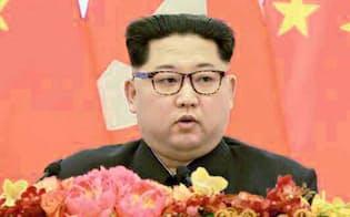 北朝鮮の金正恩委員長=共同