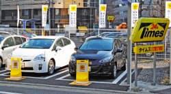 パーク24のカーシェアサービス「タイムズカープラス」は約2万台の車両を抱える(東京都中央区)