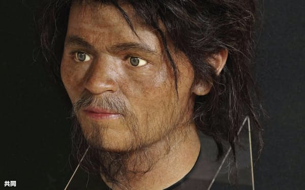 人骨のデータから復元、3次元プリンターを使って出力された「国内最古の顔」=国立科学博物館提供・共同