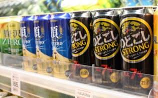 7%以上の高アルビールが人気だ(埼玉県新座市の「いなげや大泉学園店」)