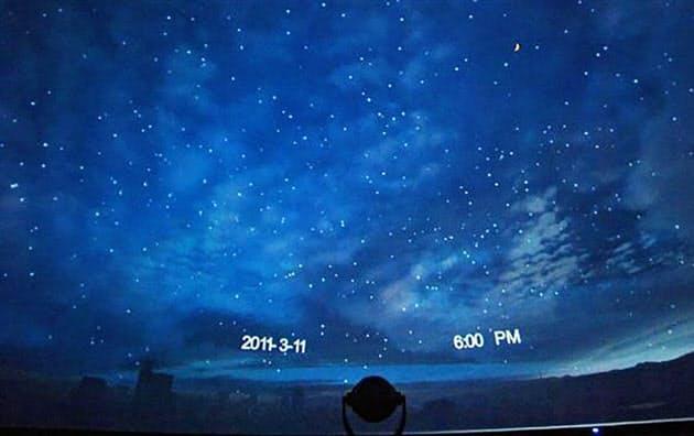 プラネタリウム番組「星空とともに」の一場面(仙台市天文台提供)=共同