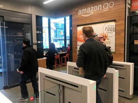 レジ無しコンビニ「アマゾン・ゴー」を現在の4店舗から最大3000店に急拡大する計画が報じられた=ロイター