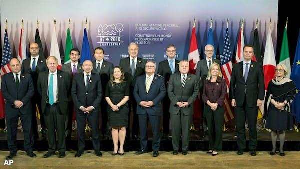 対北朝鮮、非核化まで最大限の圧力 G7外相共同声明