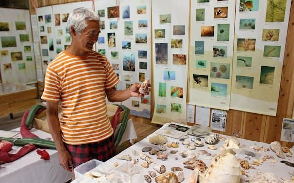 大浦湾の魅力を発信し続ける西平さん(沖縄県名護市)