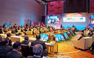 2017年9月にマニラで開かれたRCEP閣僚会合(経産省提供・共同)