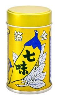 八幡屋礒五郎の金箔入り七味缶は缶も金色に