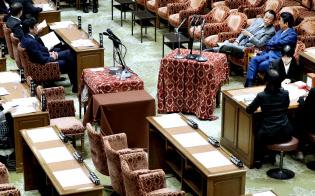 野党欠席で閑散とした衆院予算委員会(4月26日午前)