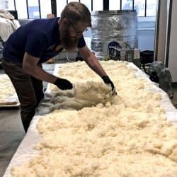 酒米は主にアーカンソー州で収穫した「山田錦」を使う(ニューヨーク)