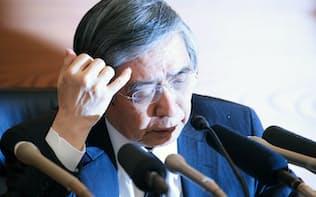 6年目に突入した黒田日銀総裁(4月27日午後、日銀本店)