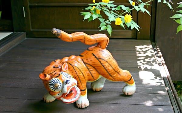 端午の節句に登場する張り子の虎