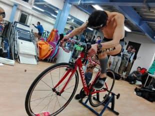 新たに自転車トレーニングを取り入れた