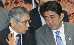 黒田東彦日銀総裁と安倍晋三首相