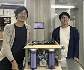 北川社長(右)と奥寺取締役